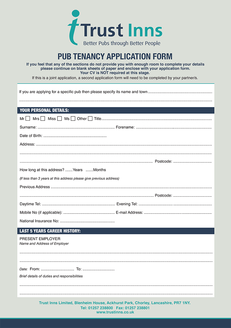 Personal Application Form
