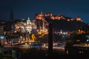 Edinburgh at night skyline