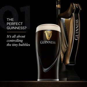 Guinness marketing graphic with pump