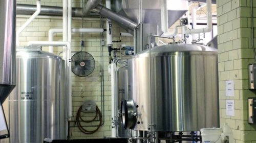 internal view of a brewery