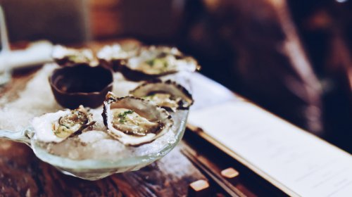Oysters in a shell