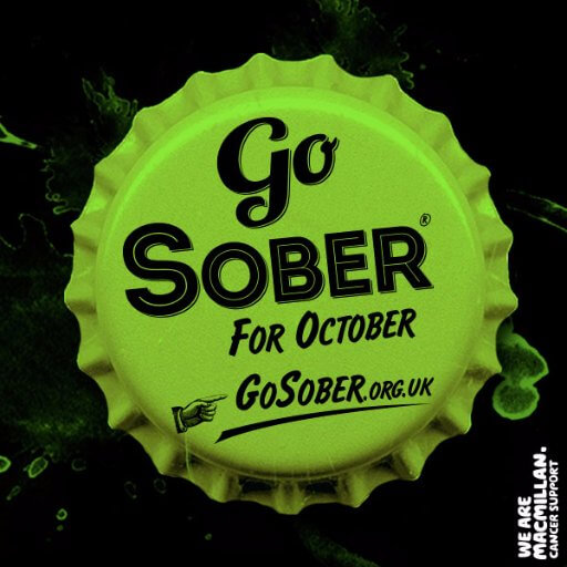 Go Sober for October Macmillan poster