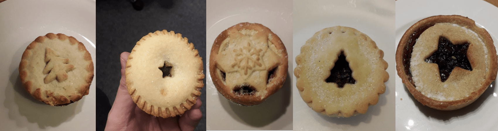 range of mince pies