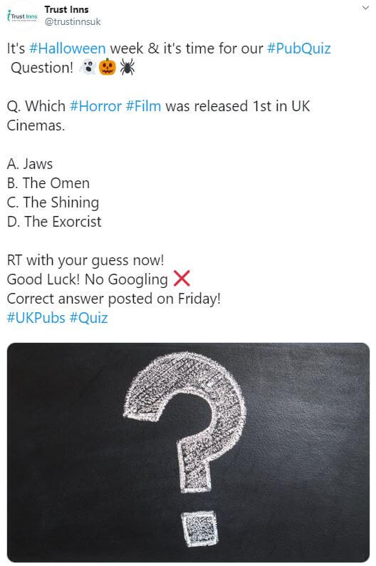 Quiz question screen shot