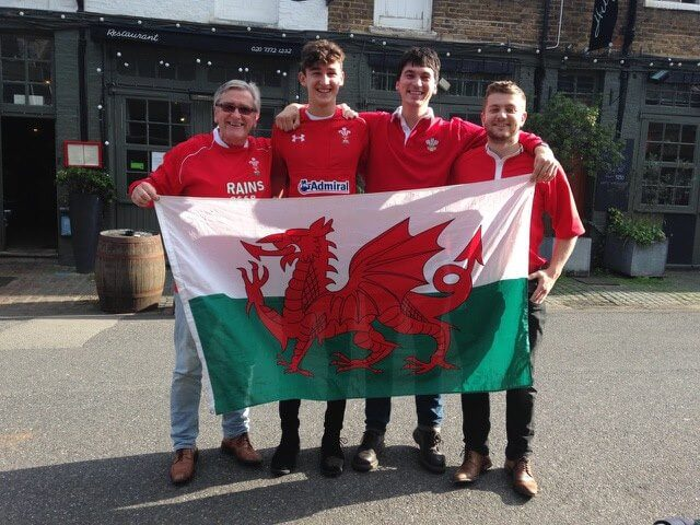 Wales fans in London for rugby