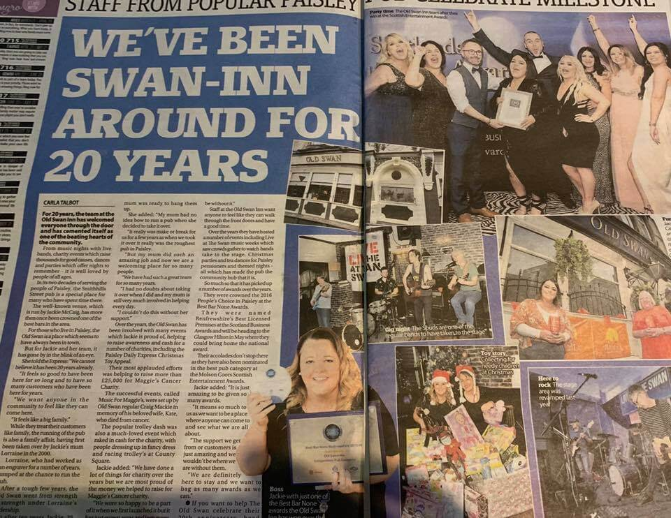 Press coverage for Swan 20th anniversary